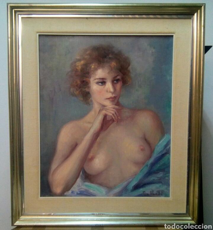 Arte: Oleo sobre lienzo desnudo femenino firmado Roser Vinardell - Foto 5 - 171991428