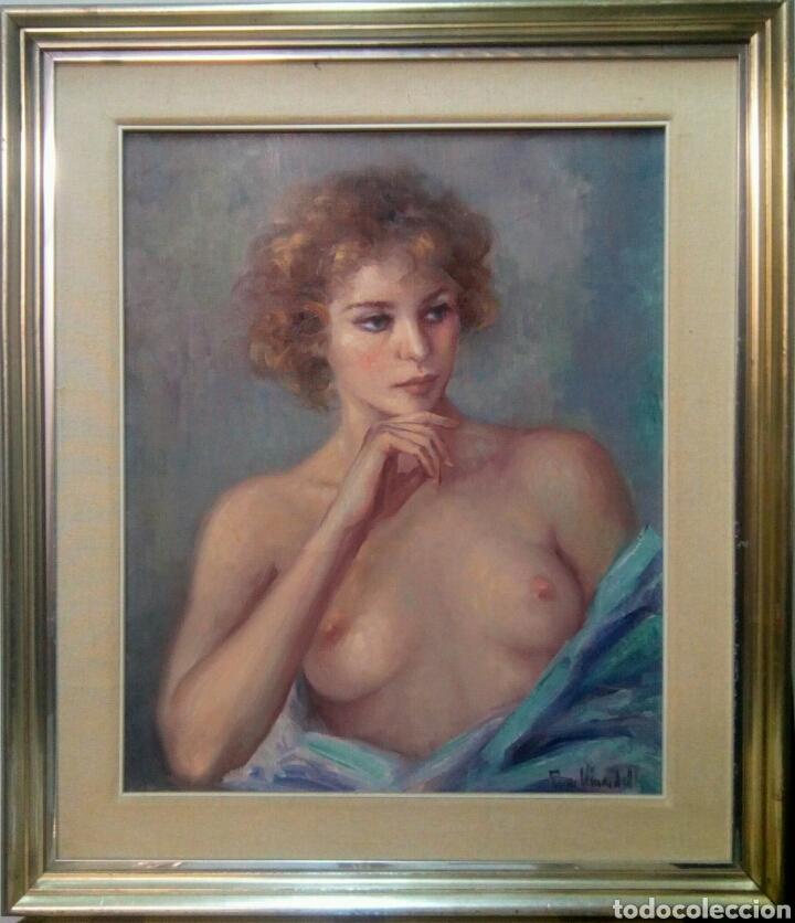 Arte: Oleo sobre lienzo desnudo femenino firmado Roser Vinardell - Foto 7 - 171991428