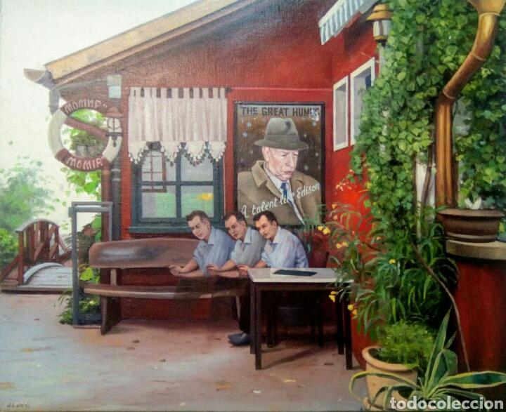 Arte: Óleo sobre lienzo de Juan Luis Jardi ( taberna Momir) Ohrid, República de Macedonia. - Foto 2 - 172032592