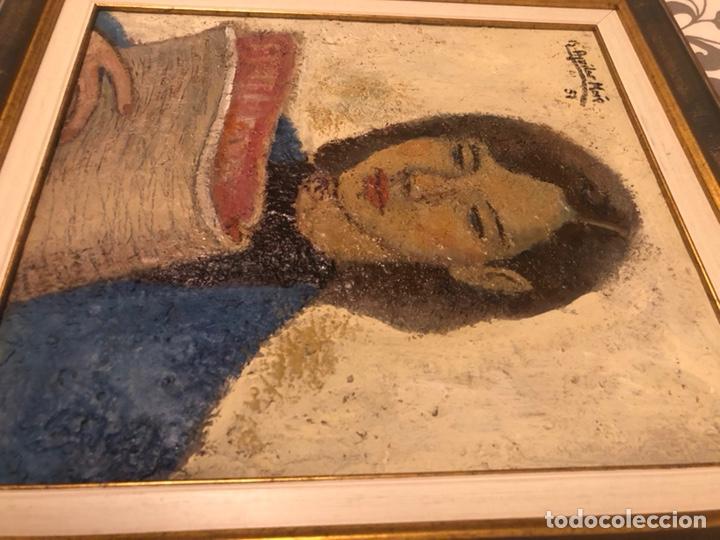 Arte: Chica con diario 1951 - Ramón Aguilar More (1924-2015) - Foto 6 - 172115148