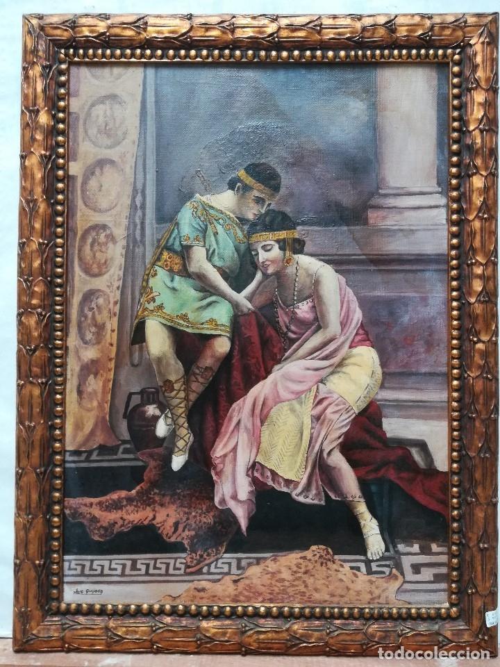 PERSONAJE CON VESTIMENTA ROMANA FIRMADO POR JOSE QUIJADA (Arte - Pintura - Pintura al Óleo Contemporánea )