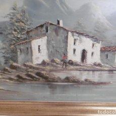 Arte: SOBERBIO CUADRO AL OLEO GRAN TAMAÑO, FIRMADO Y ENMARCADO.-. Lote 172168413