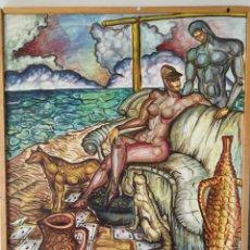Arte: INTERESANTE OBRA EN LIENZO FIRMADA ANDY 1994. Lote 172199565