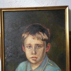 Arte: ARTE. ÓLEO SOBRE LIENZO RETRATO ESCUELA ESPAÑOLA ANTIGUO FIRMA J CALIZ B PARA RESTAURAR. SELLADO. Lote 172232723