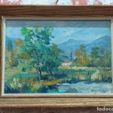 Arte: OLEO SOBRE TABLA EDUARD LÓPEZ M. S. XX. Lote 172234727