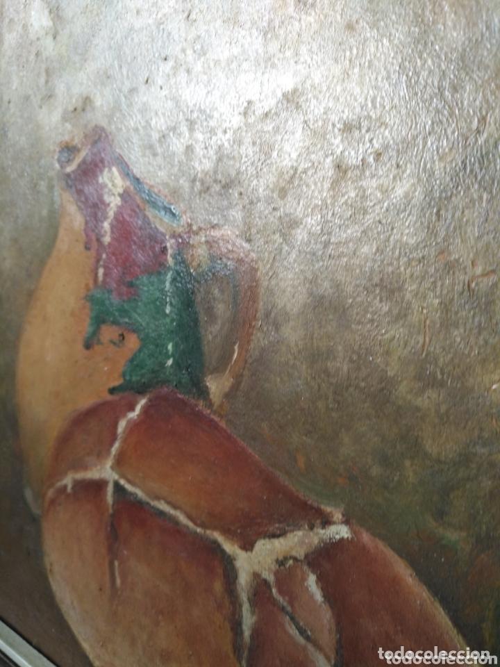 Arte: Arte. Óleo sobre tabla. Firmado bodegón. - Foto 3 - 172235765