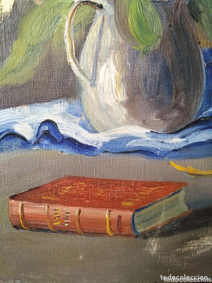 Arte: Arte. Óleo sobre lienzo. Firmado M Caralt Jarrón flores . - Foto 5 - 172237119