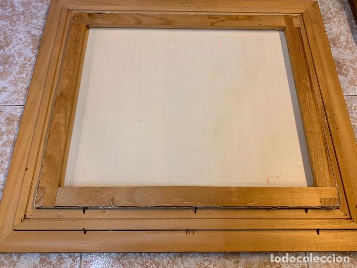 Arte: Precioso paisaje enmarcado, oleo sobre lienzo, firmado Medina, En total mide 70x61cms - Foto 10 - 172239045