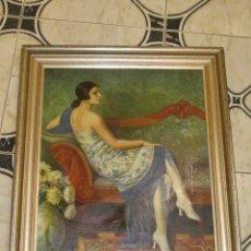 Arte: OLEO SOBRE LIENZO - ENMARCADO - MUJER FLAMENCA - 76X66. Lote 172240959