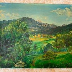 Arte: PRECIOSO PAISAJE, OLEO SOBRE LIENZO, FIRMADO V.PUIG, EN TOTAL MIDE 57X44CMS. Lote 172241528