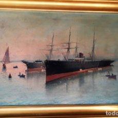 Arte: MARINA FIRMADA POR BLASCO (JOSÉ RUÍZ BLASCO?). Lote 172268835