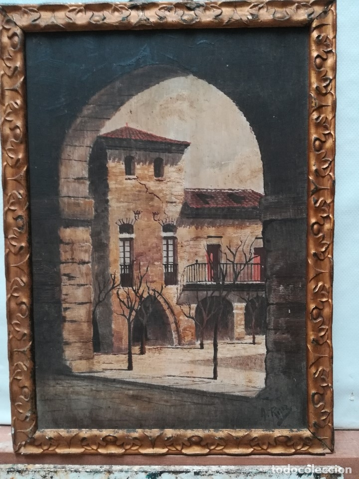 PAISEJE URBANO (Arte - Pintura - Pintura al Óleo Moderna siglo XIX)