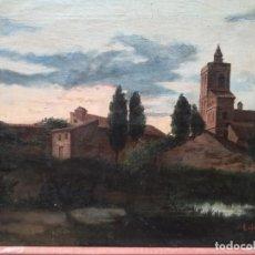 Arte: PAISAJE GALLEGO, FIRMADO POR LOLA VELASCO(1901). Lote 172284970