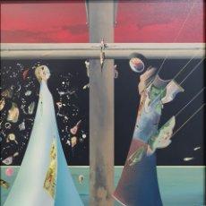 Arte: LUGRÍS VADILLO , URBANO ( VIGO,1942 - A CORUÑA,2018). NATIVIDAD. ÓLEO SOBRE TABLA. Lote 172285293