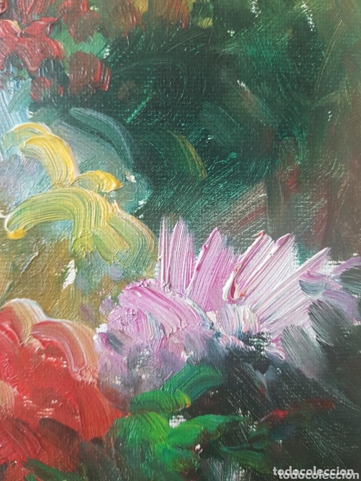 Arte: Rambla de las Flores - Firmado J.Campos.oleo/tela. - Foto 11 - 172290407