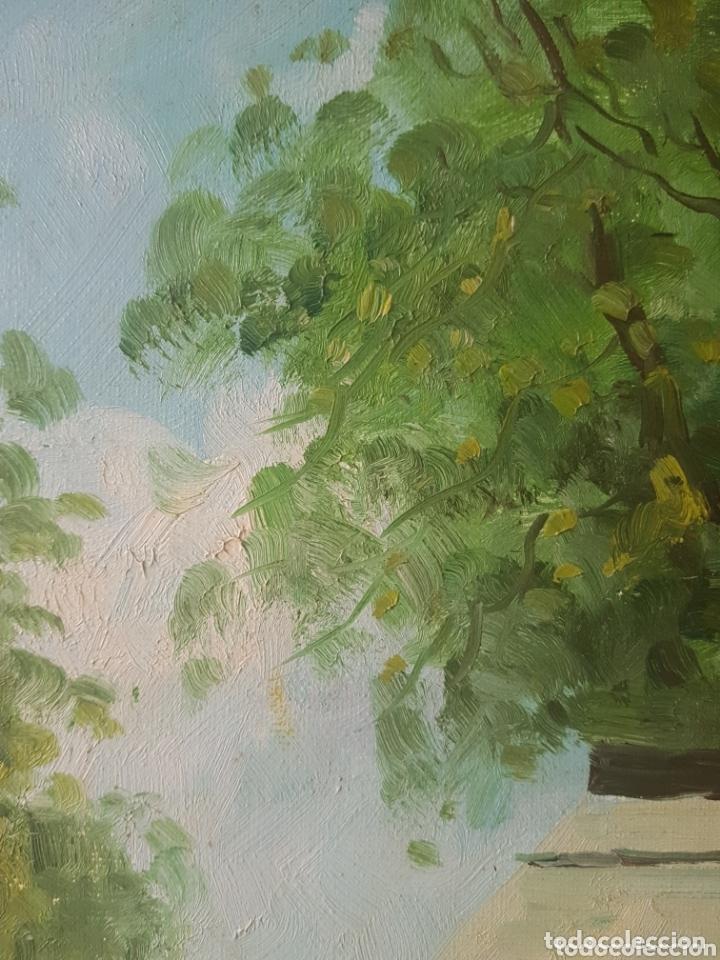 Arte: Rambla de las Flores - Firmado J.Campos.oleo/tela. - Foto 12 - 172290407