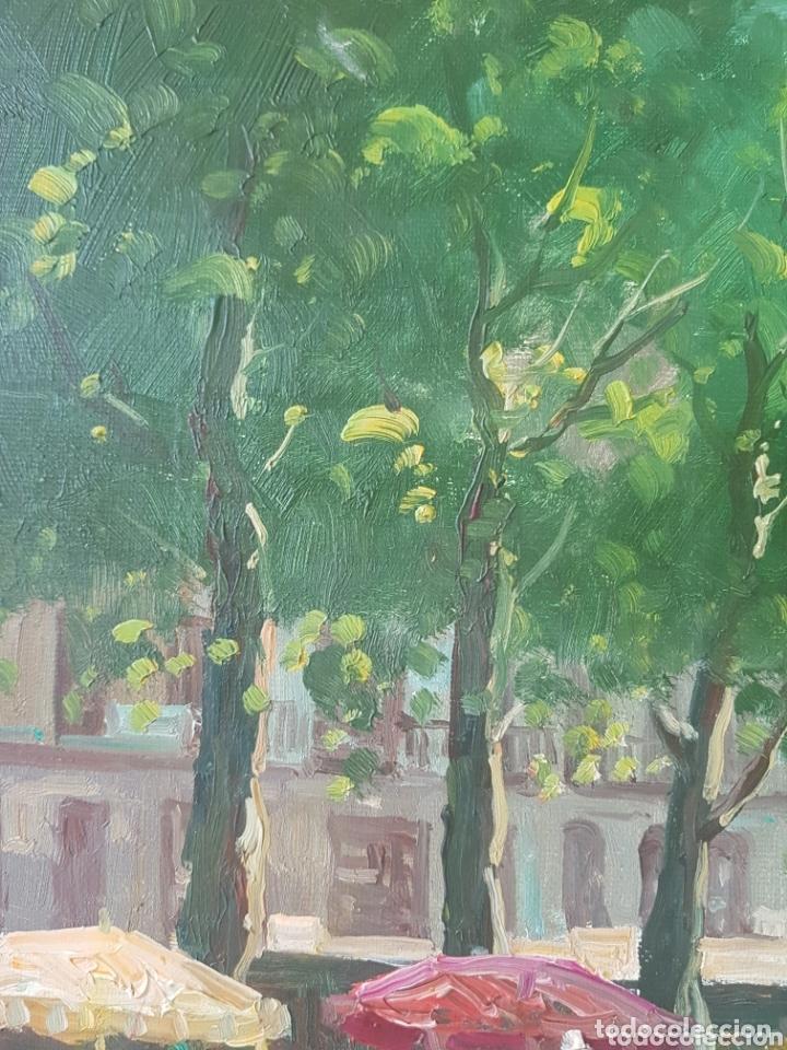 Arte: Rambla de las Flores - Firmado J.Campos.oleo/tela. - Foto 14 - 172290407