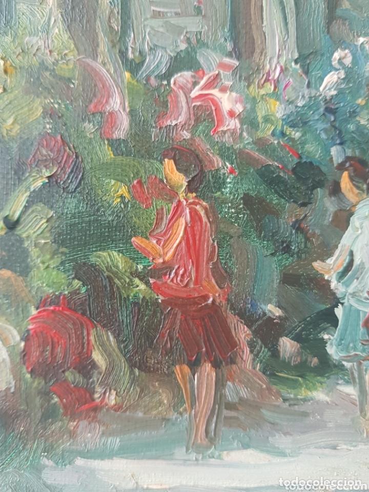 Arte: Rambla de las Flores - Firmado J.Campos.oleo/tela. - Foto 15 - 172290407