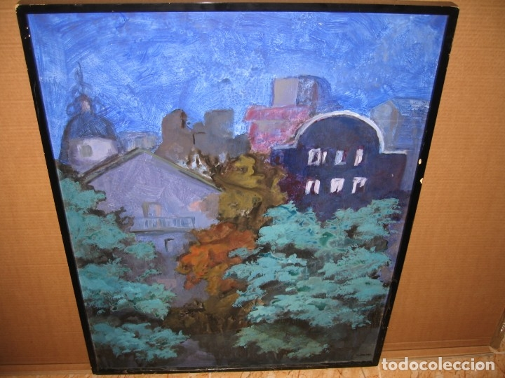 OLEO SOBRE TABLERO DE M.CALVET (Arte - Pintura - Pintura al Óleo Contemporánea )