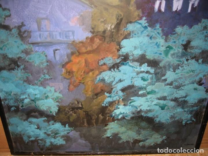 Arte: OLEO SOBRE TABLERO DE M.CALVET - Foto 3 - 172346423