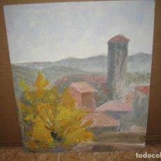 Arte: OLEO SOBRE TABLERO LA ALDEA. Lote 172396084