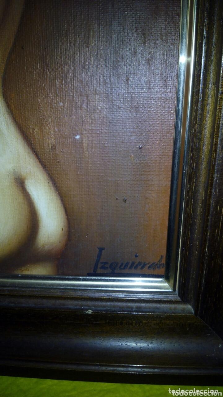 Arte: Cuadro oleo sobre lienzo, firmado Izquierdo - Foto 4 - 172404462