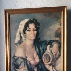 Arte: REPRODUCCIÓN MUJER MORENA DE FRANCISCO RIBERA, MCMLXII. Lote 172423714