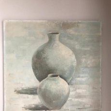 Arte: ÓLEO SOBRE LIENZO , TINAJAS FIRMADO , FIRMA ILEGIBLE. Lote 172544168
