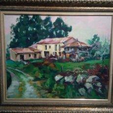 Arte: PRECIOSO PAISAJE ASTURIANO. ESCUELA DE FAVILA. Lote 172587033