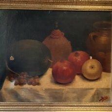 Arte: BODEGÓN CON MOTIVO DE NATURALEZA MUERTA. PODRÍA SER DE JOSEP BERGA I BOIX. Lote 172598493