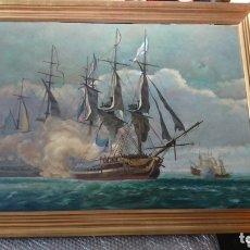 Arte: BATALLA NAVAL, J. MANOVEL. Lote 172648124