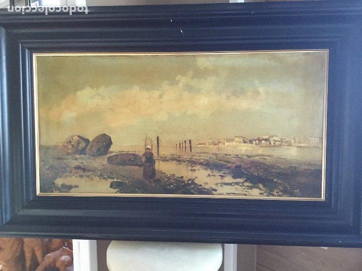 OLEO SOBRE LIENZO FINALES S.XIX (Arte - Pintura - Pintura al Óleo Moderna siglo XIX)