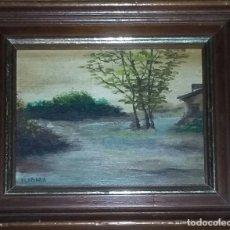 Arte: PINTURA AL ÓLEO SOBRE TABLA. PAISAJE, FIRMADO VILA PLANA.. Lote 154847214