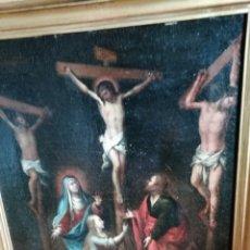 Arte: CALVARIO ÓLEO SOBRE LIENZO SIGLO XVIII MEDIDAS 48X60 CM. SIN CONTAR EL MARCO.. Lote 172726933