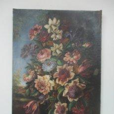 Arte: ÓLEO SOBRE TELA - BODEGÓN DE FLORES - SIGUIENDO MODELOS JUAN DE ARELLANO - S. XIX. Lote 172738982