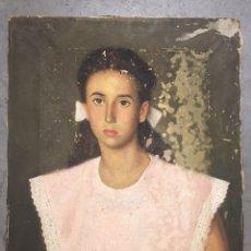 Arte: PINTURA ANTIGUA - OLEO SOBRE LIENZO - RETRATÓ - FIRMADO VIDAL LOMBAN 1947. Lote 172785647