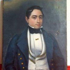 Arte: ÓLEO RETRATO CABALLERO S.XIX ÉPOCA ROMANTICISMO. Lote 172797638