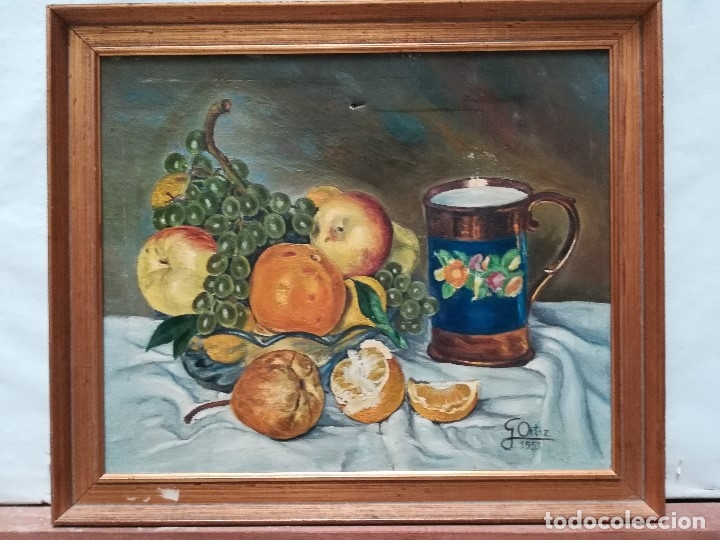 BODEGON FIRMADO POR G.ORTIZ (Arte - Pintura - Pintura al Óleo Contemporánea )