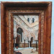Arte: LOS REALES ALCAZAR DE SEVILLA , PINTADO POR JOSE MONTENEGRO CAPELL. Lote 172825725