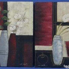Arte: OLEO SOBRE LIENZO FIRMADOS R.WILEOX. Lote 172869574