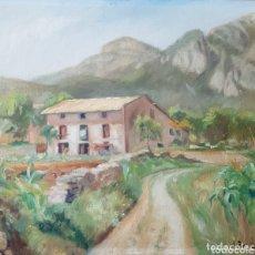 Arte: JOAN TAPIOL I BARBERÀ (TARRAGONA, 1921-2015) - PAISAJE CON MASIA.OLEO/TELA.FIRMADO.C1950.. Lote 172858107