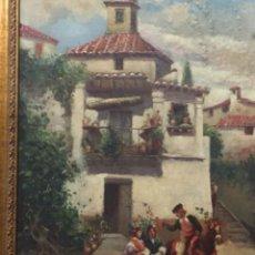 Arte: OLEO BANDOLERO GITANAS. FIRMADO. COSTUMBRISTA. Lote 171716924