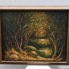 Arte: ANTIGUA PINTURA ABSTRACTA OLEO EN LIENZO. Lote 172919537