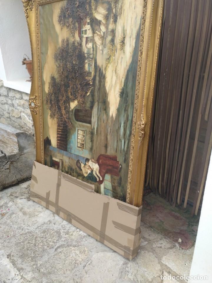 Arte: De Mora, gran óleo con marco extra - Foto 4 - 172939682