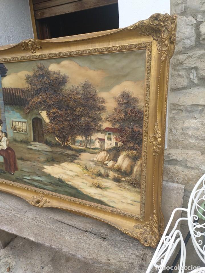 Arte: De Mora, gran óleo con marco extra - Foto 5 - 172939682