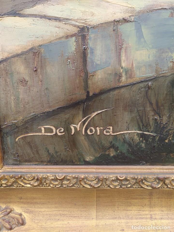 Arte: De Mora, gran óleo con marco extra - Foto 8 - 172939682