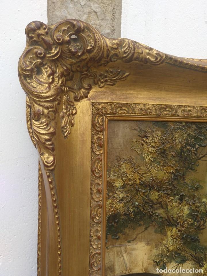 Arte: De Mora, gran óleo con marco extra - Foto 10 - 172939682