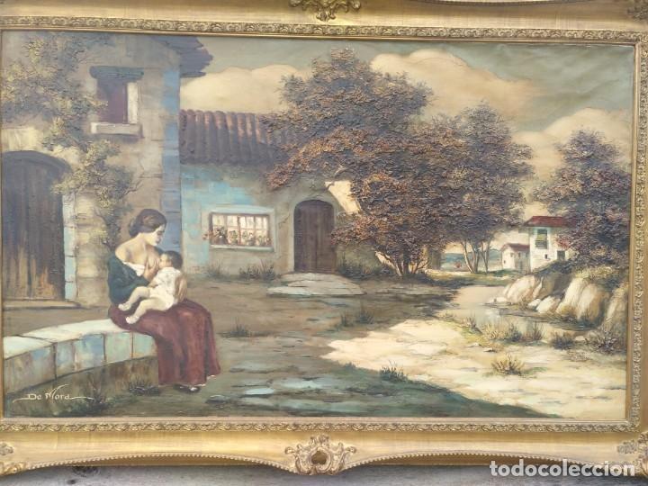 Arte: De Mora, gran óleo con marco extra - Foto 13 - 172939682