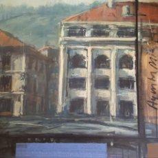 Arte: EXCELENTE OLEO SOBRE TABLEX DEL PINTOR DE BERGARA KARLOS GALARRAGA ARANZABAL. 1992. AYUNTAMIENTO. Lote 172940302