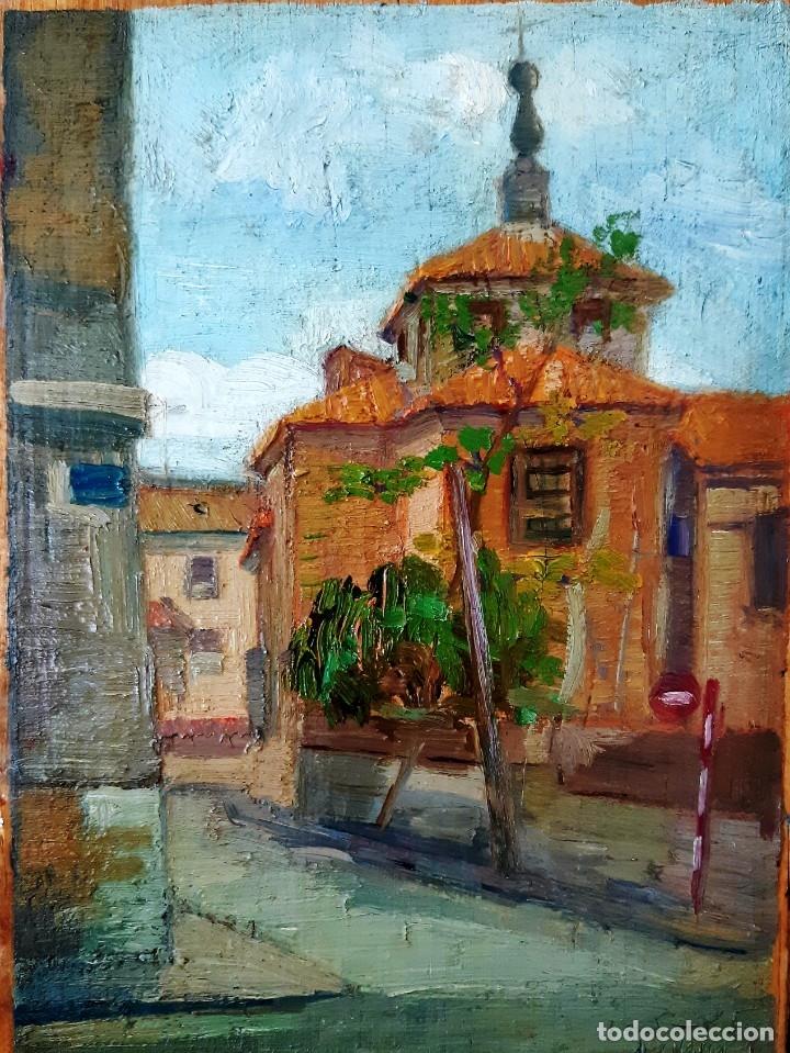 IGLESIA DE SAN MIGUEL DE CHAMARTÍN. ÓLEO SOBRE TABLA FIRMADO Y FECHADO EN 1965 (Arte - Pintura - Pintura al Óleo Contemporánea )